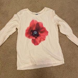 Old navy long sleeve flower tee